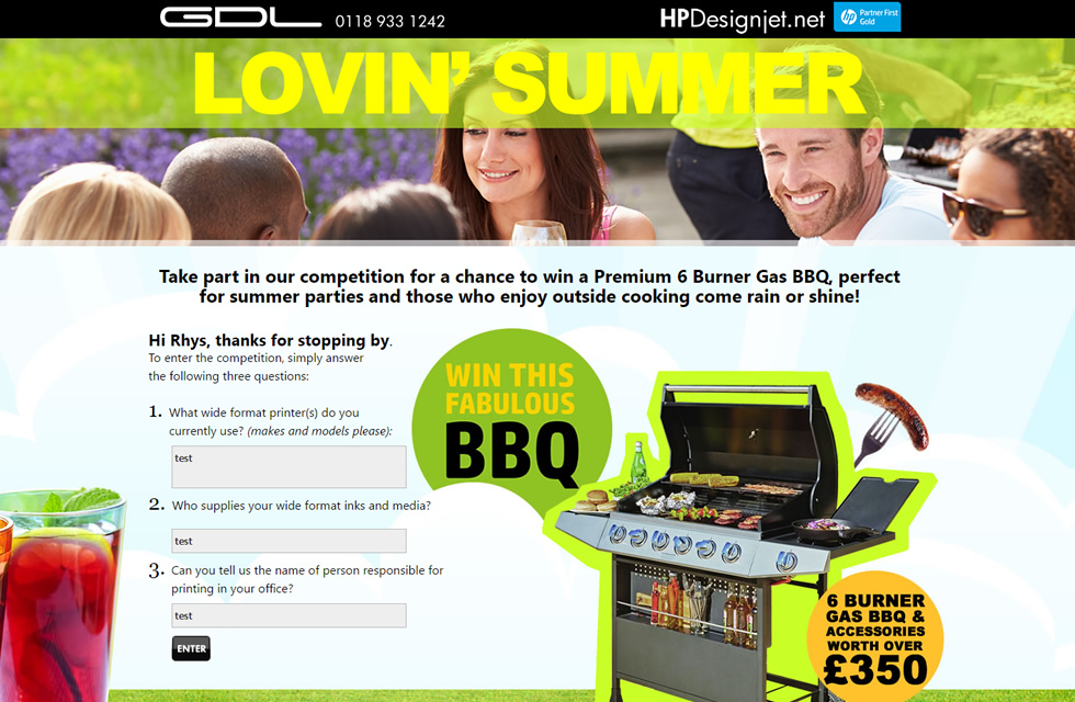 Cross Media BBQ promo