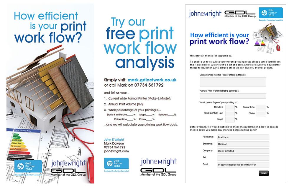 Work Flow postcard